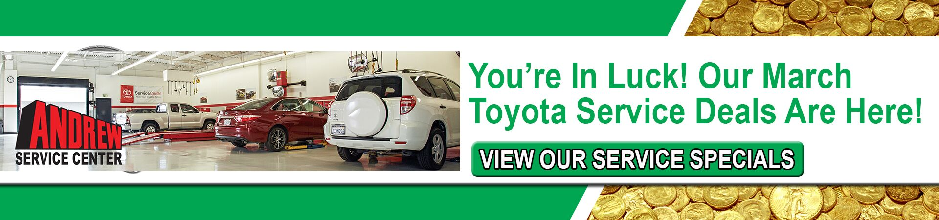 Andrew Toyota March Service Coupons