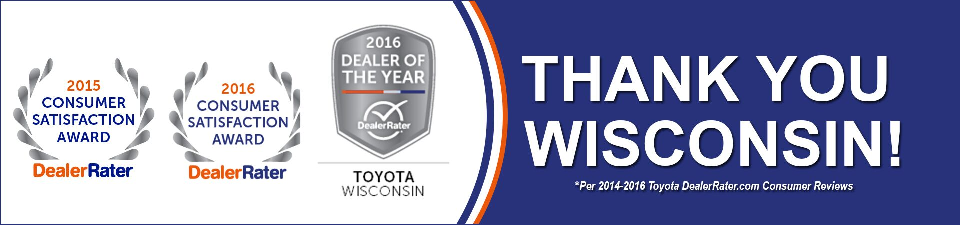 Andrew Toyota- 2016 Wisconsin Toyota Dealer Of The Year