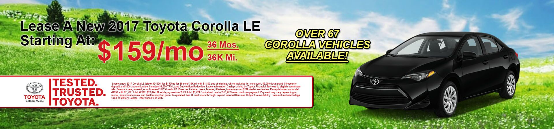 New 2017 Toyota Corolla Specials At Andrew Toyota