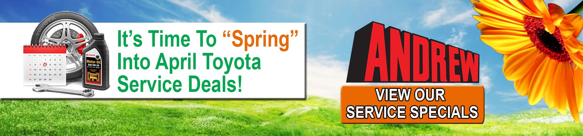 April Service Specials At Andrew Toyota