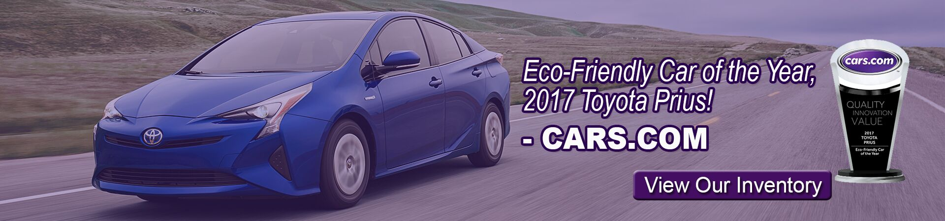 New 2017 Prius wins Eco-Friendly Car of the Year!