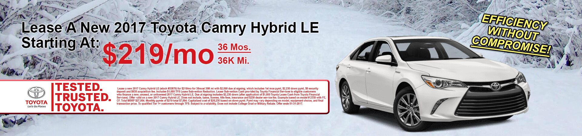 January Camry Hybrid Special At Andrew Toyota