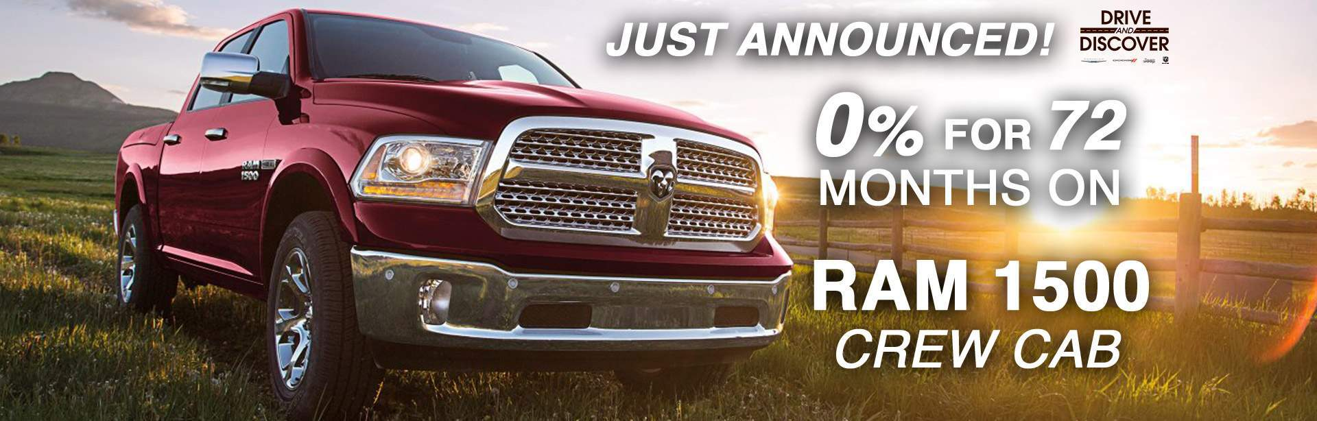 0% for 73 months on Ram 1500 Crew Cab