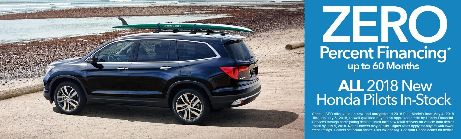2018 Honda Pilots 0 Percent APR