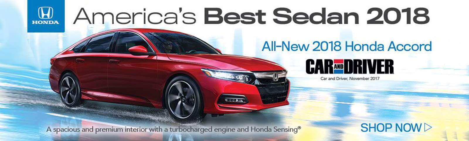 Americas Best Sedan Honda Accord 2018