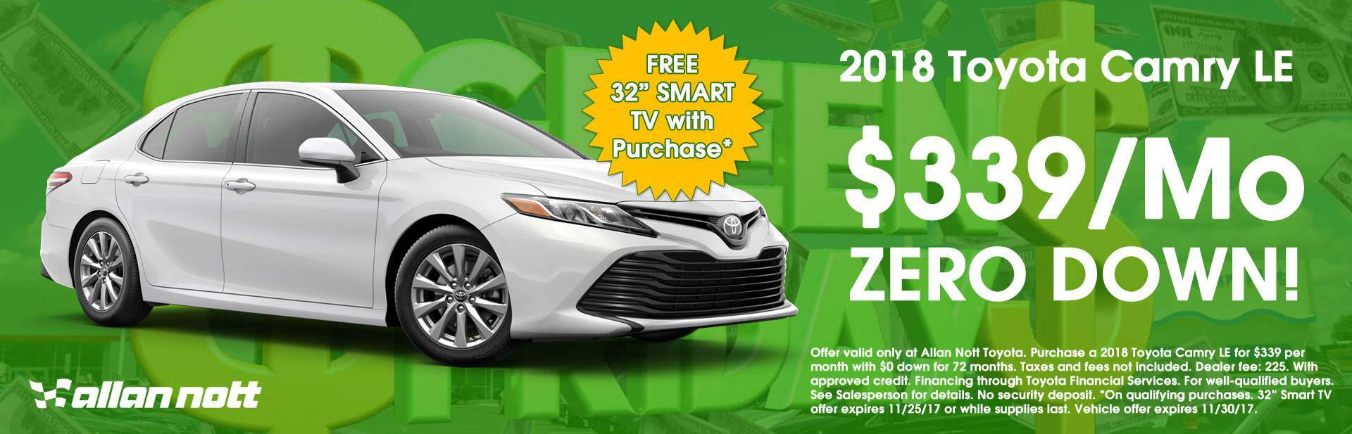 Keep your green in your pocket with this 2018 Toyota Camry LE Special!