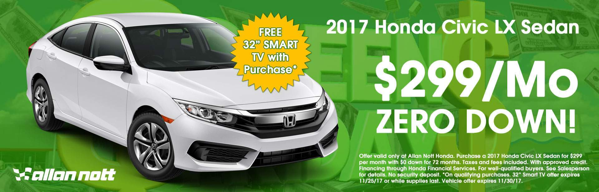 Keep your green in your pocket with this 2017 Honda Civic LX Special!