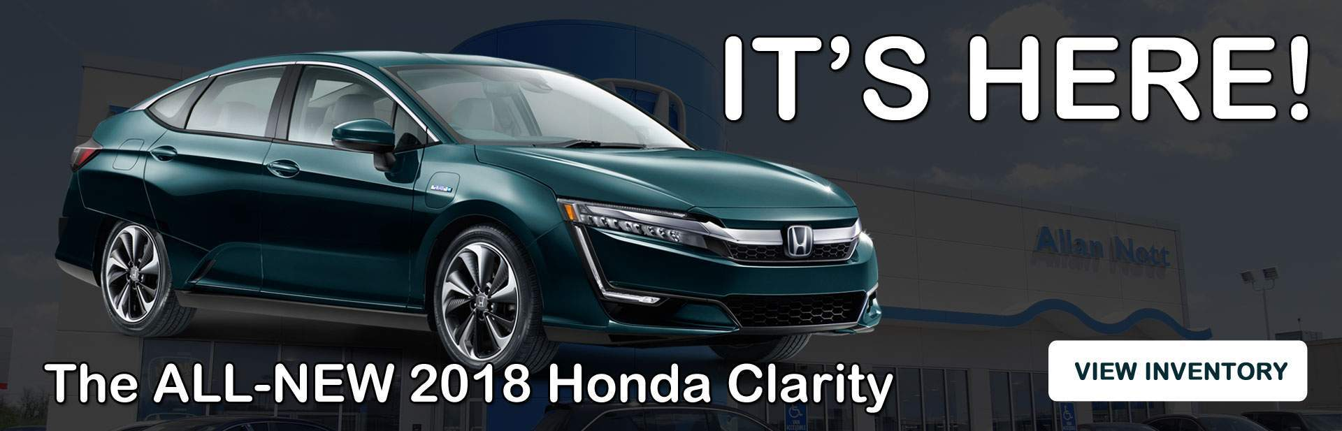 The ALL-NEW 2018 Honda Clarity is here!