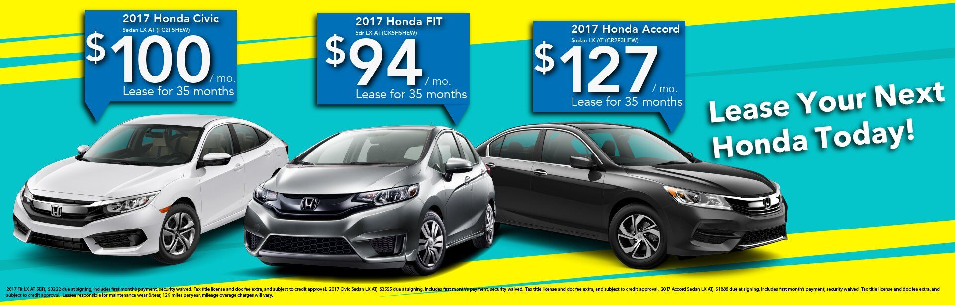 Honda Fit Lease