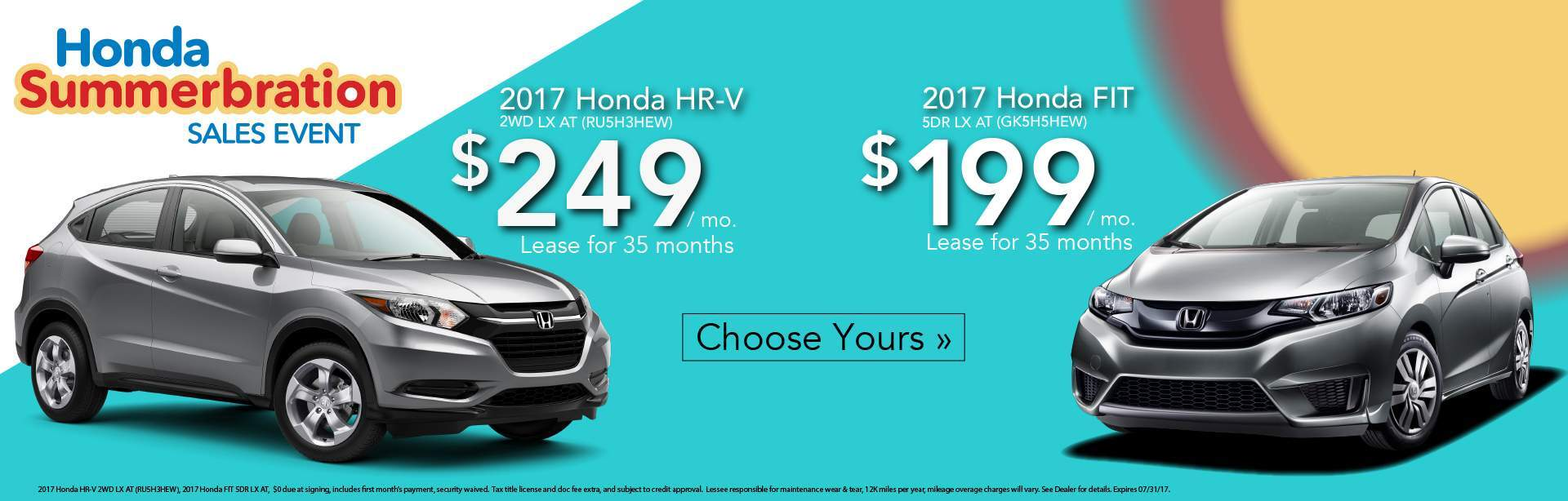 Honda Fit and HRV Lease