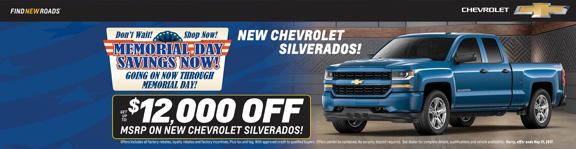 2017 Chevrolet Silverados Get Up To $12,000 Off MSRP!