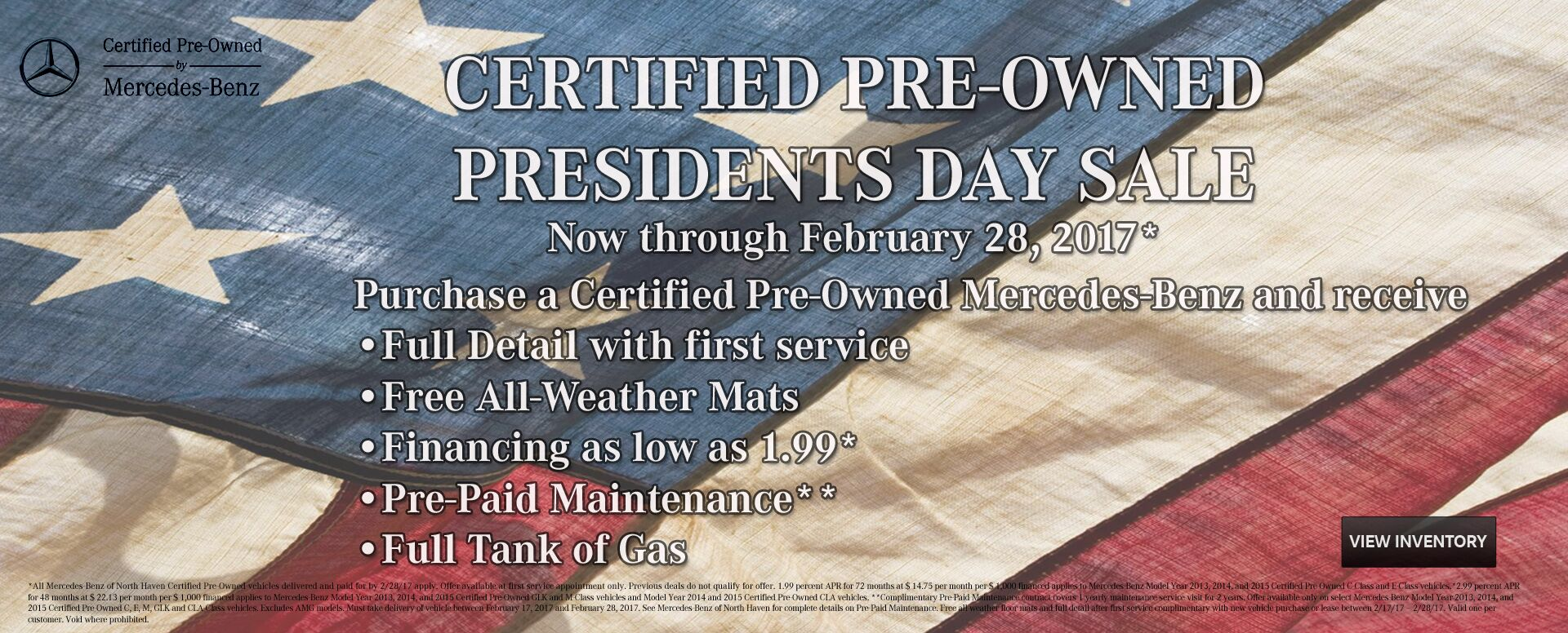 2017 February CPO Pres Day Sale