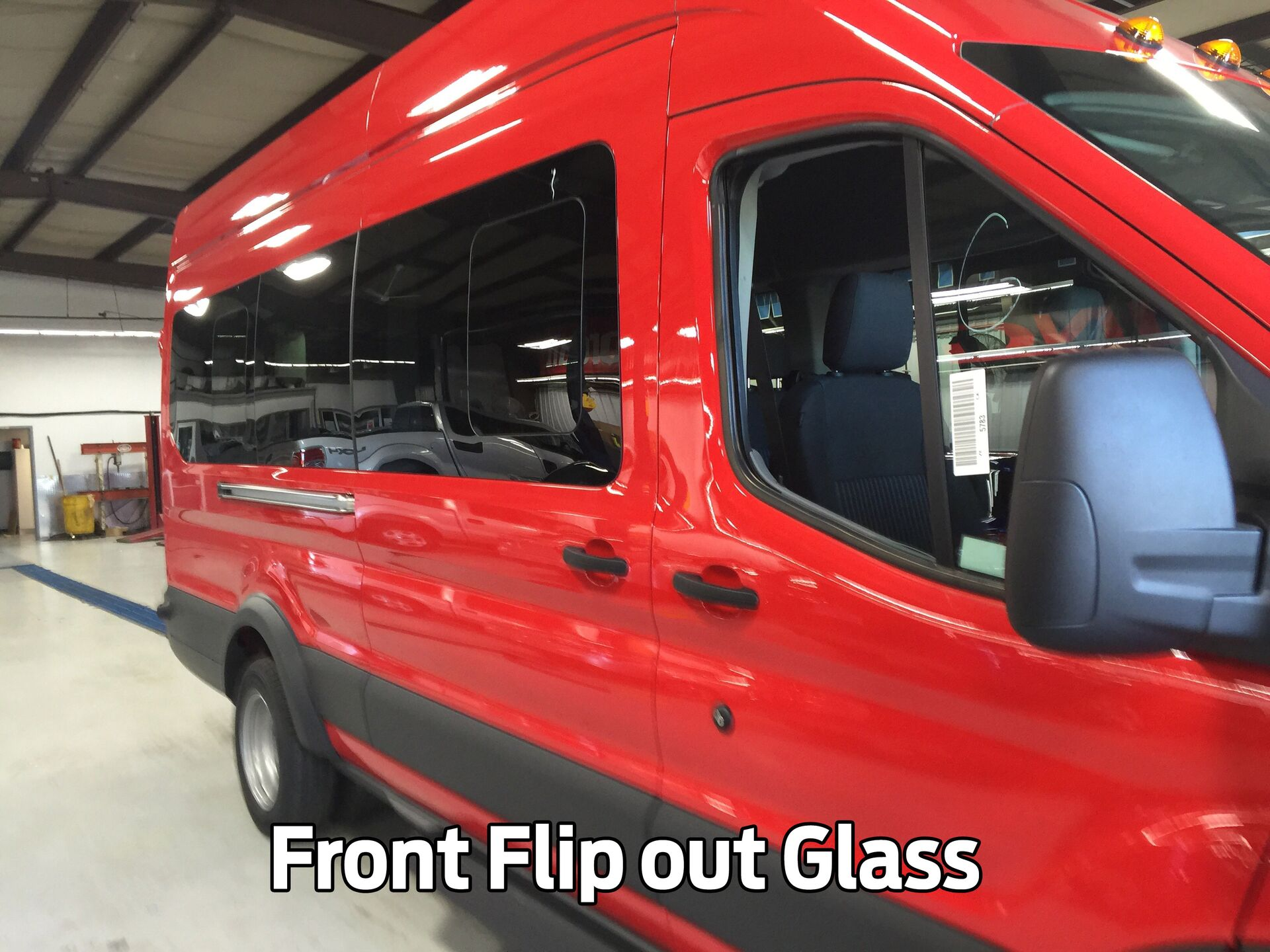 Front Flip Out Glass