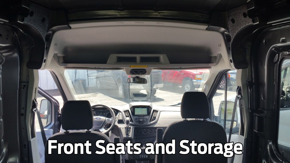Front Seats and Storage