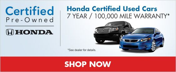 Honda Certified Used Cars