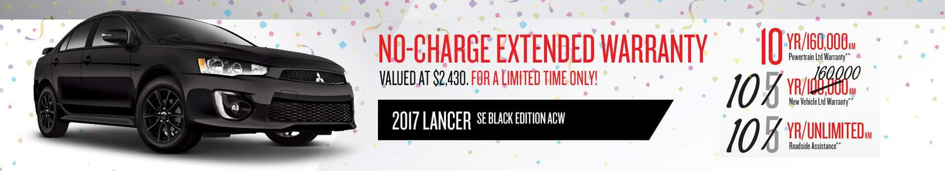2017 Lancer No-Charge Extended Warranty