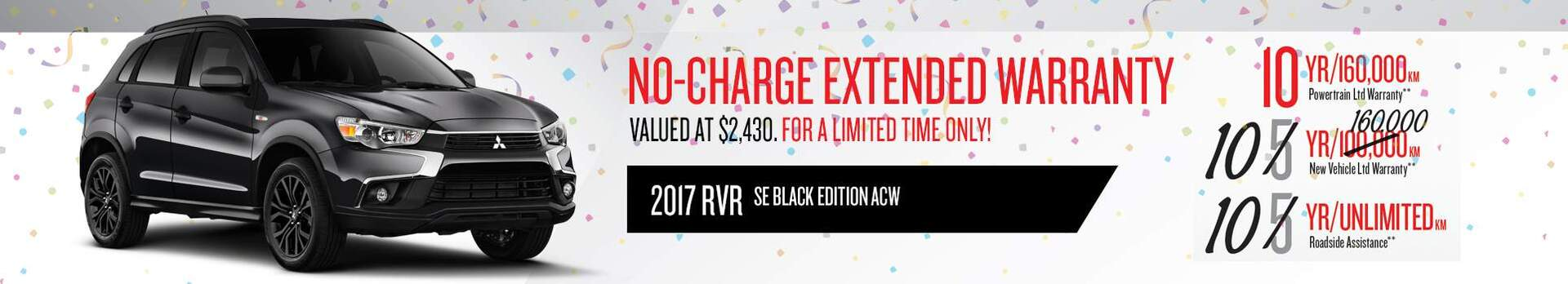 2017 RVR No-Charge Extended Warrany