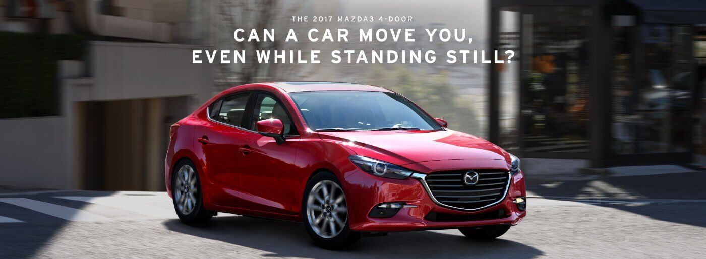 The 2017 Mazda3 4-Door, Can a Car Move You, Even While Standing Still?