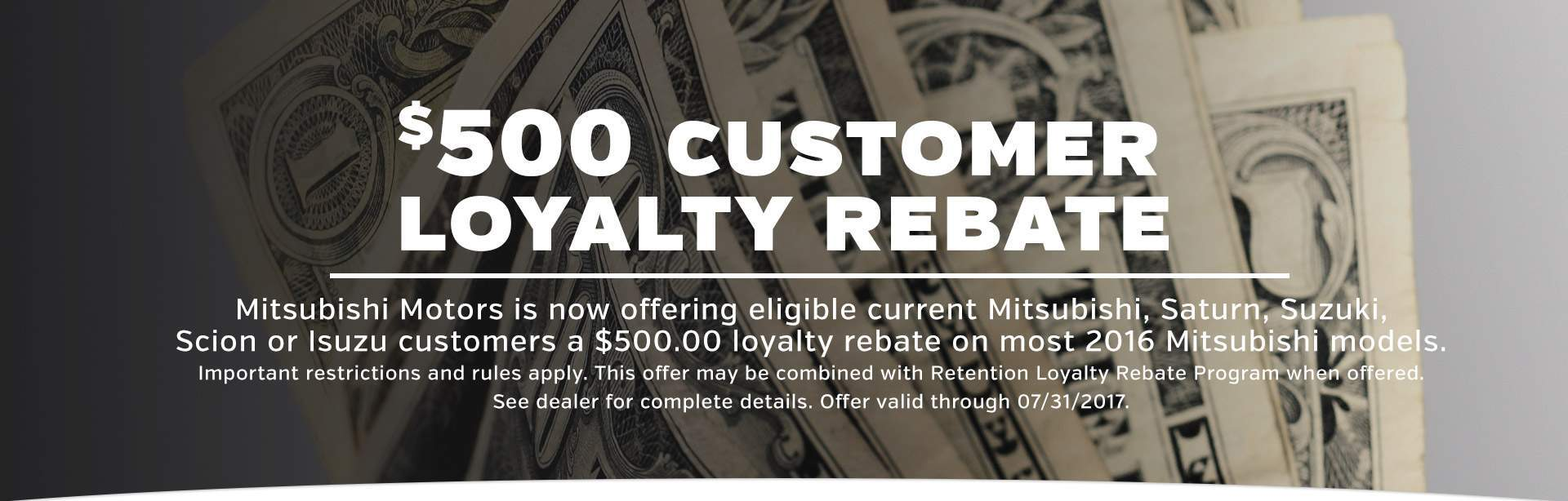Customer Loyalty Rebate