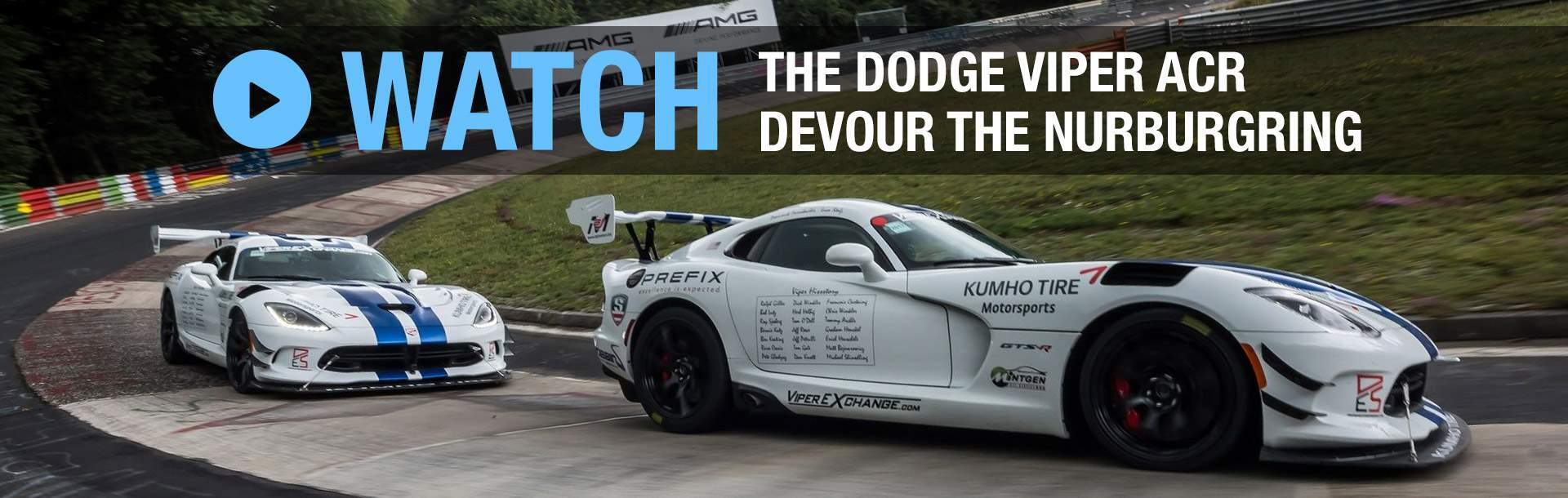 Watch the Dodge Viper ACR Devour the Nurburgring