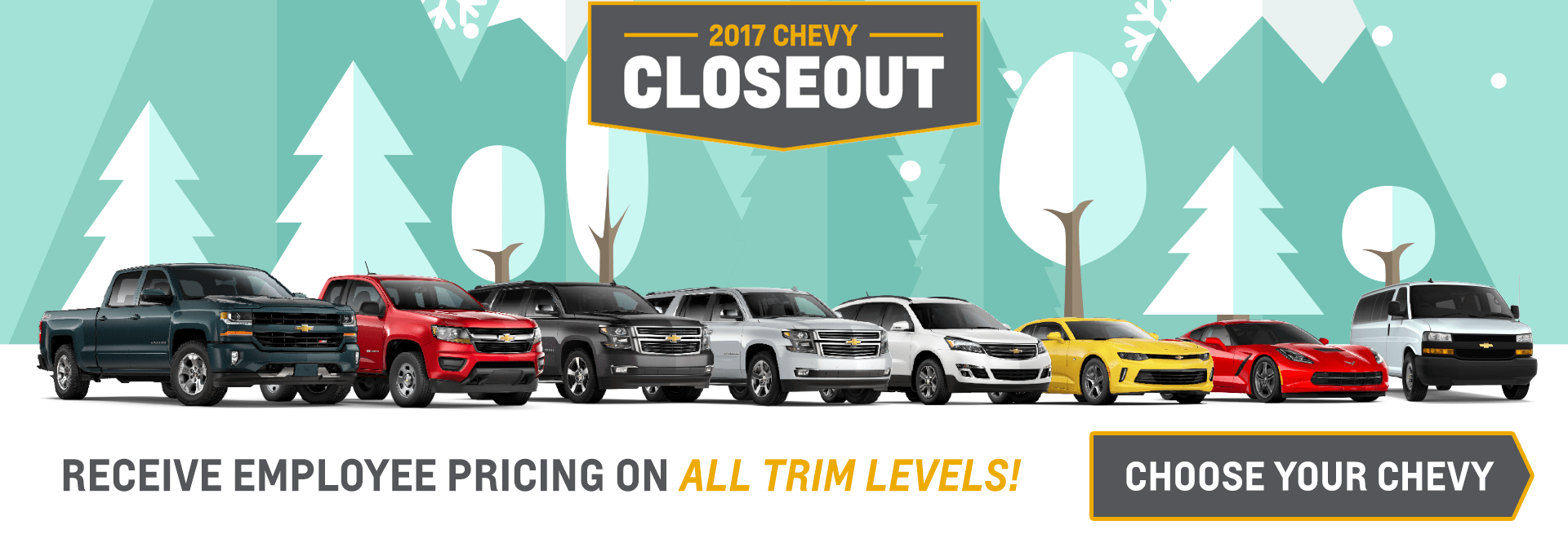 EVERYONE RECEIVES CHEVY EMPLOYEE PRICING!