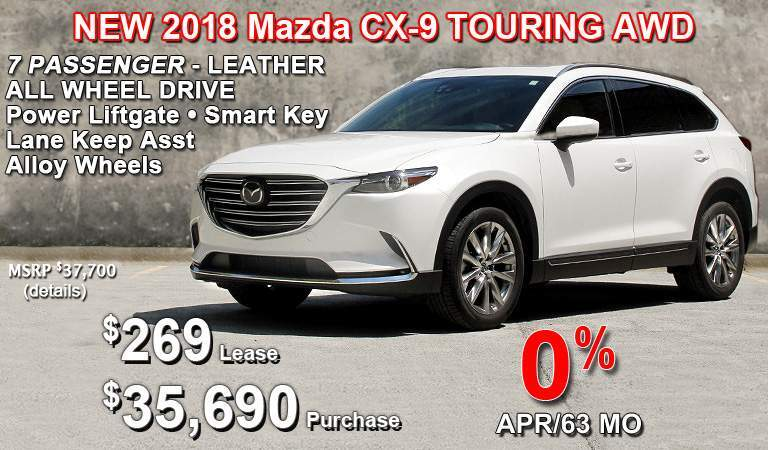 the Mazda CX-9 - LUXURY -  VERSATILITY