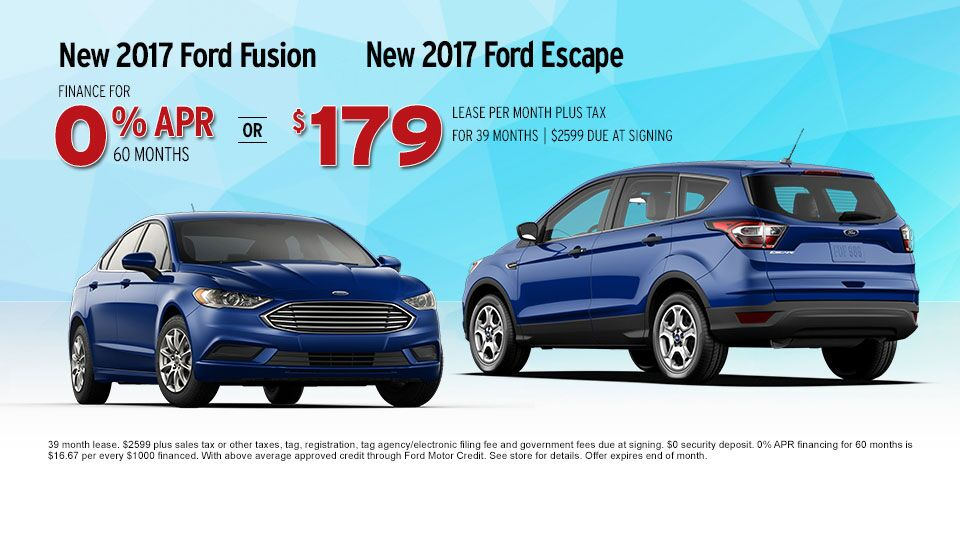Ford Escape and Ford Fusion