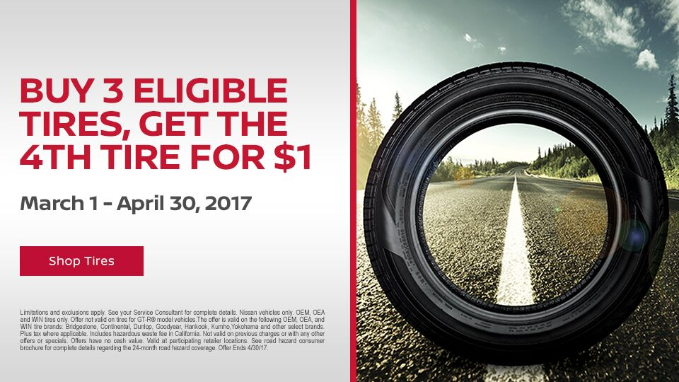 Buy 3 Get 1 Tire Promotion