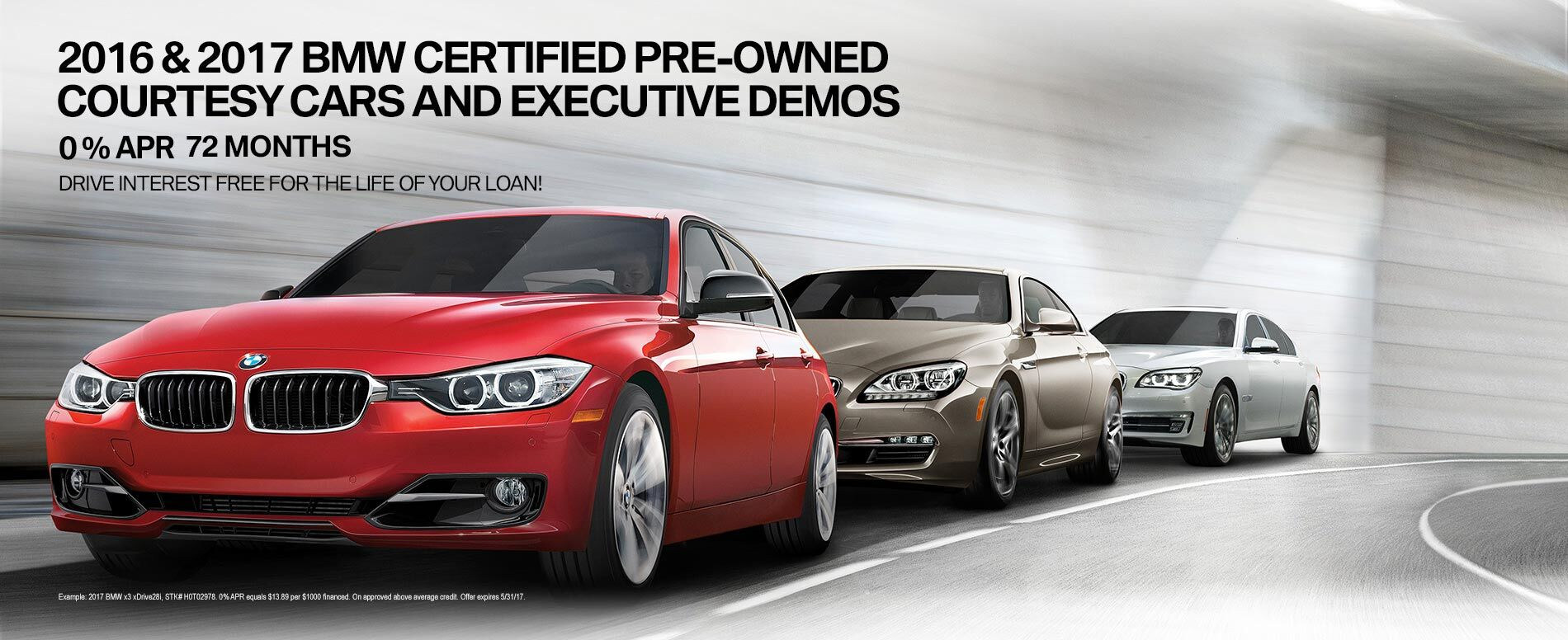 2016/2017 BMW Certified Pre-Owned Courtesy Cars and Executive Demos