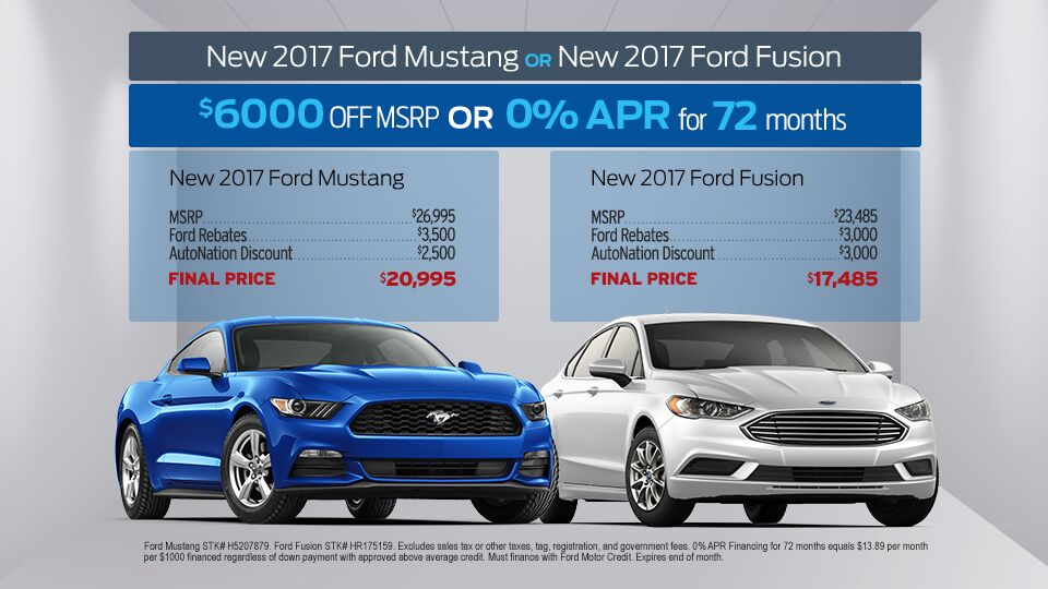 mustang and fusion