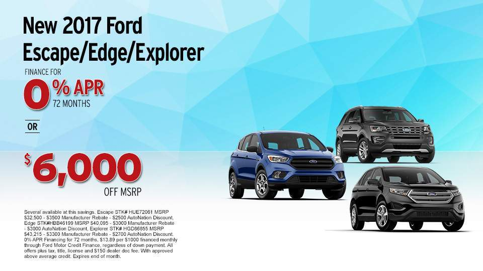 2017 Ford Escape, Edge and Explorer