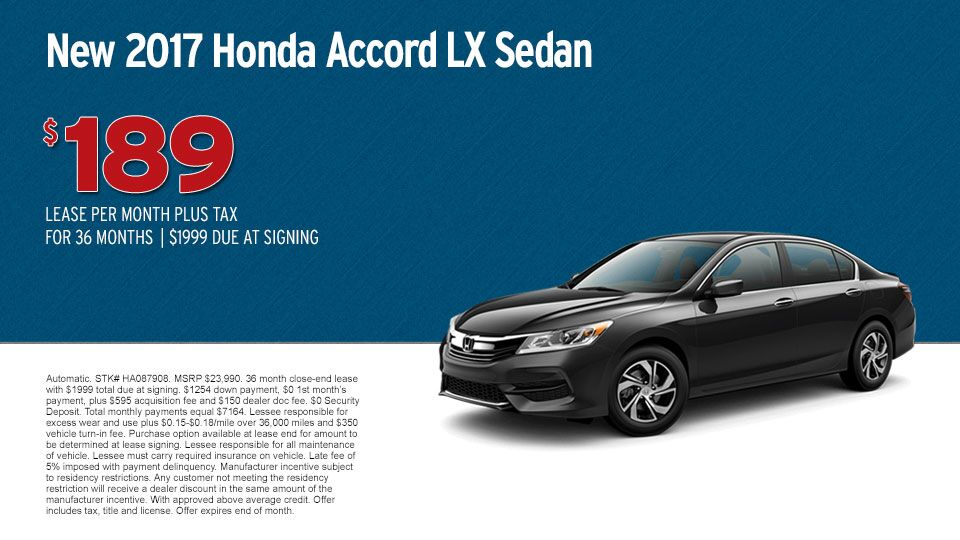 New 2017 Honda Accord LX Sedan