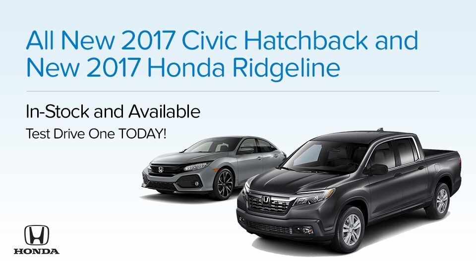 2017 Civic Hatchback and Ridgeline