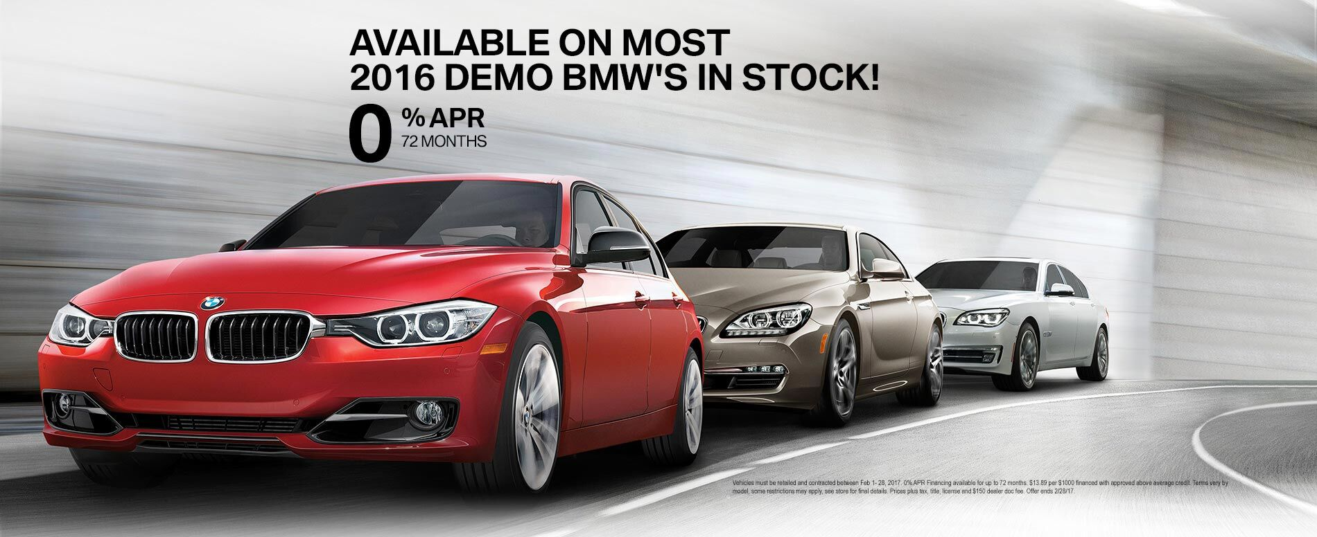 Available on Most 2016 Demo BMWs in stock