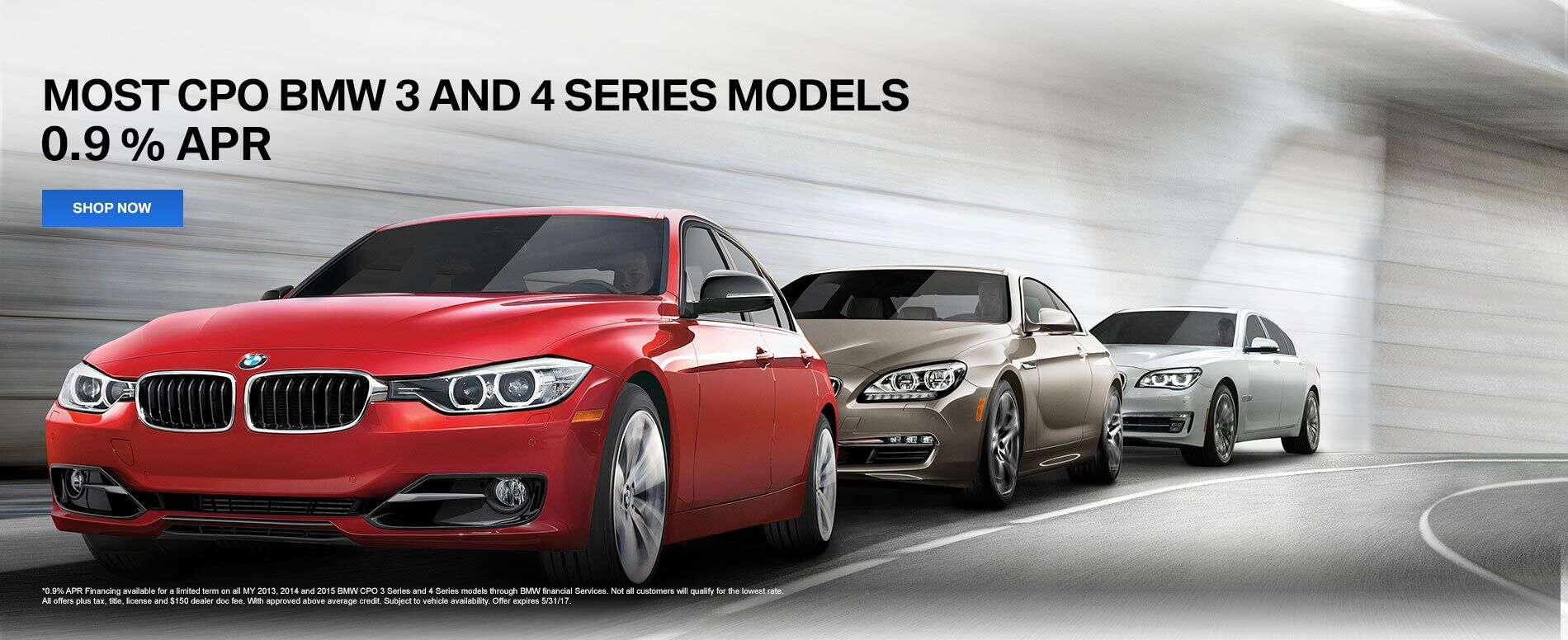 Most CPO BMW 3 and 4 series
