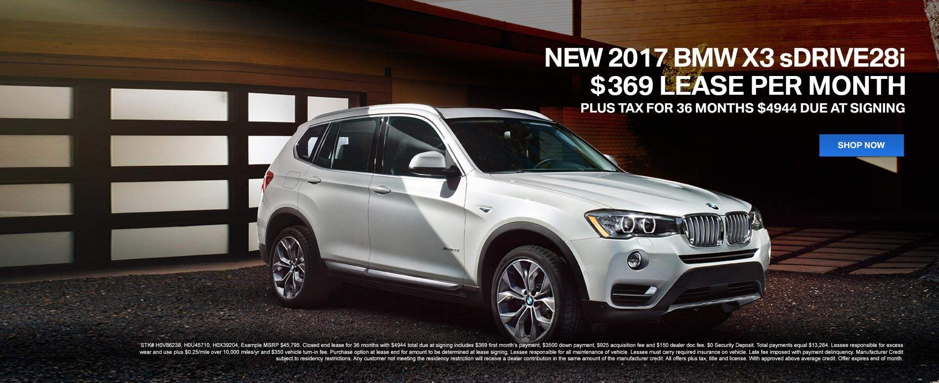 2017 BMW X3 sDrive28i