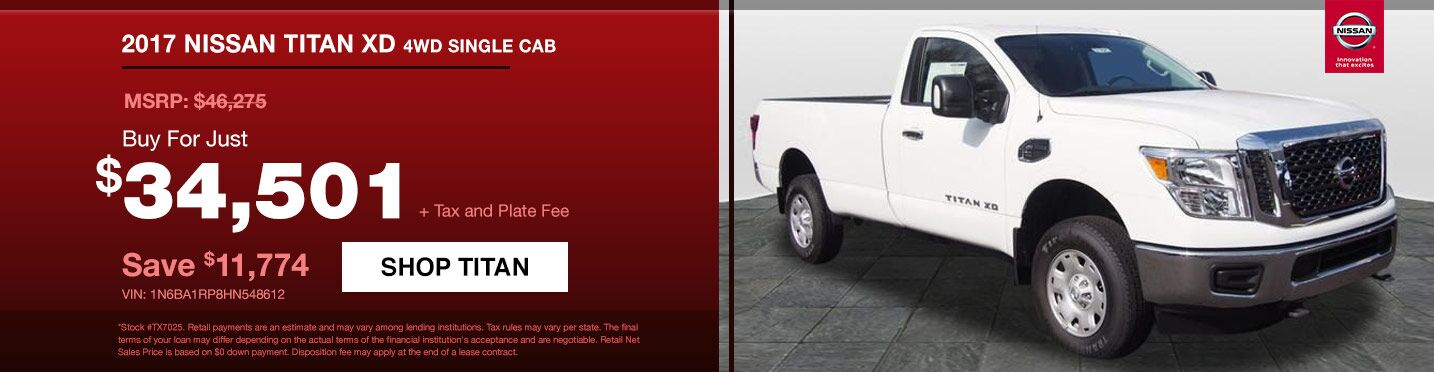 Buy a New Nissan Titan Today!