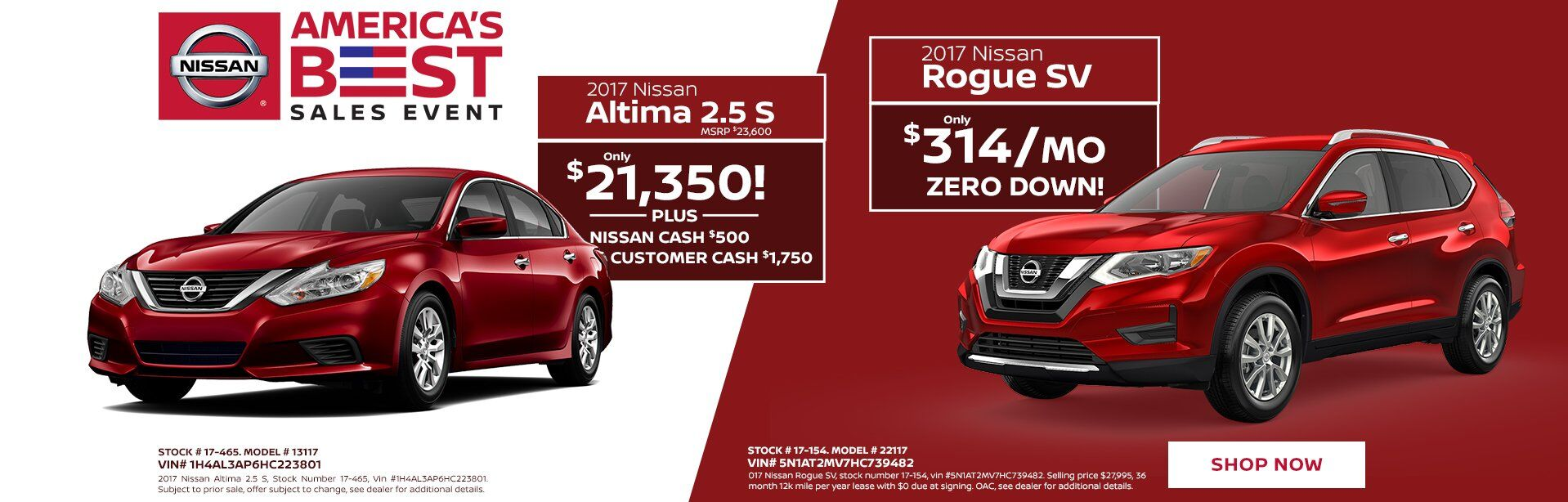 Altima and Rogue