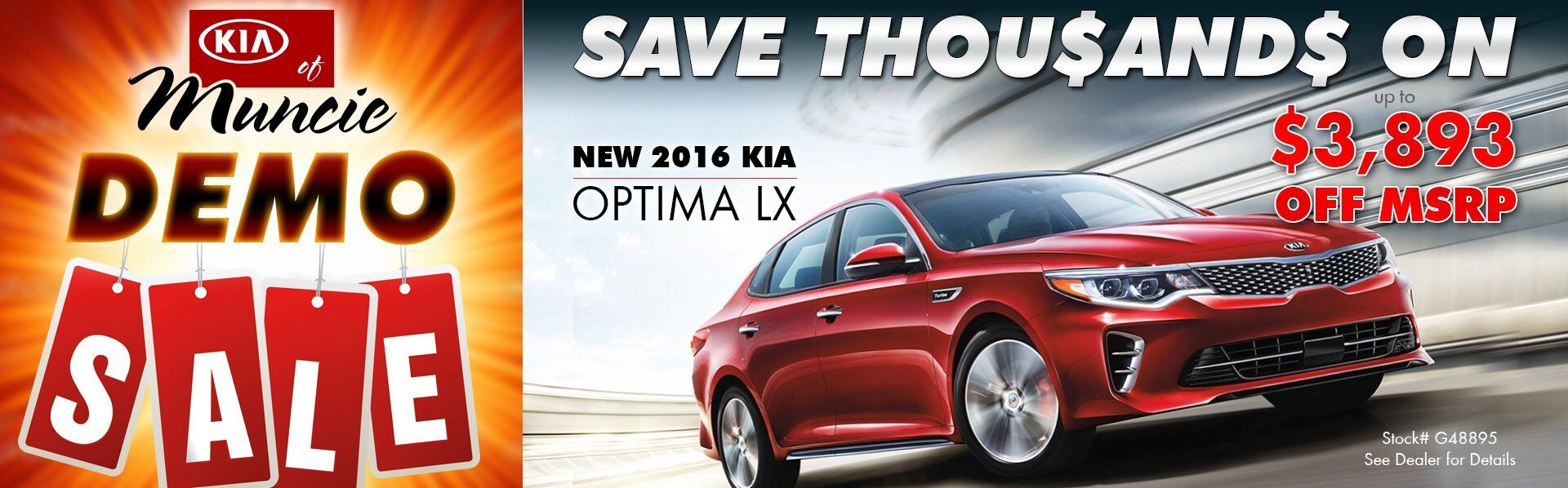DEMO SALE - 2016 Optima