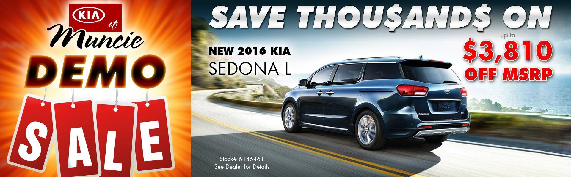 DEMO SALE - 2016 Sedona
