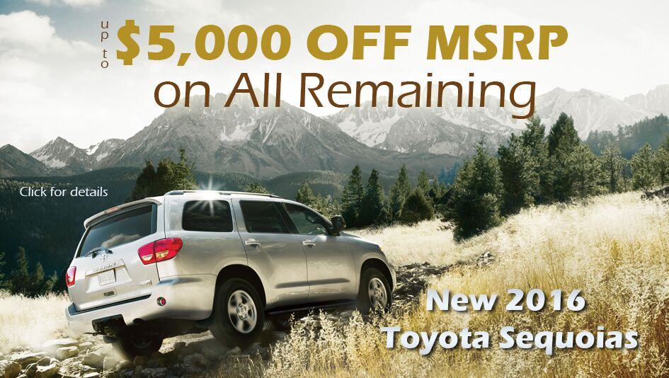 2016 Sequoia Discounts