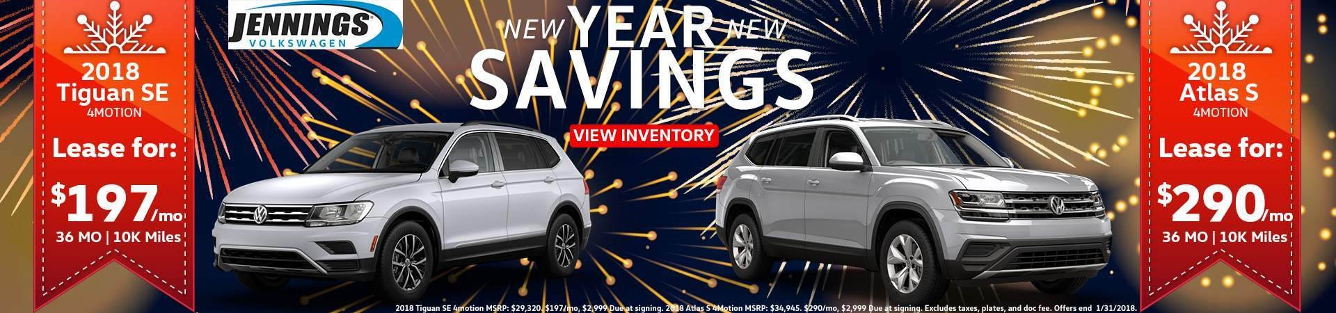 Jennings Tiguan and Atlas Specials