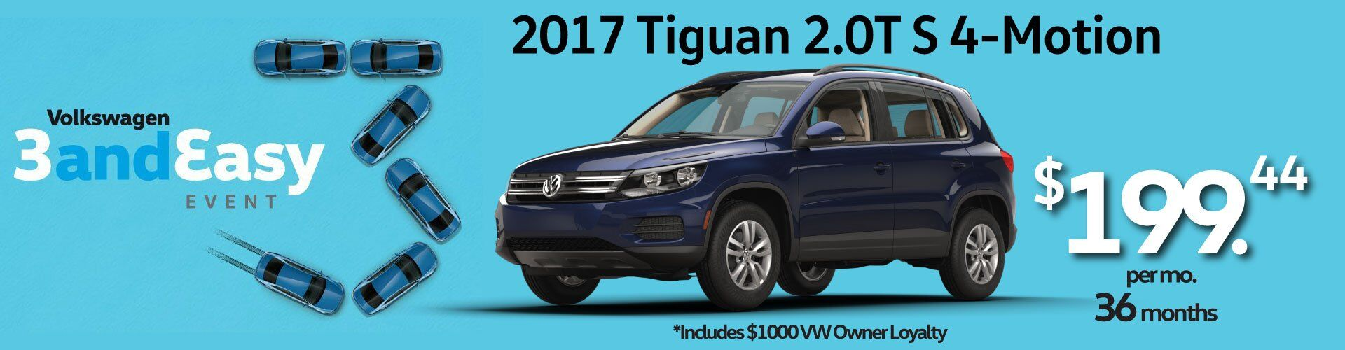 3 and Easy Tiguan Deal at Douglas VW!