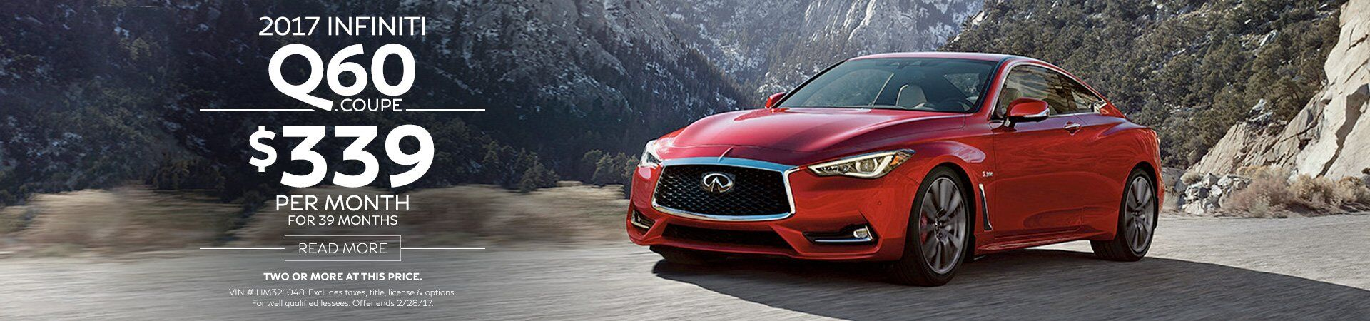Q60 Coupe Offer