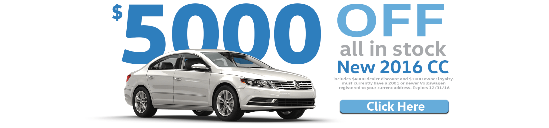 $5000 off all New 2016 CC