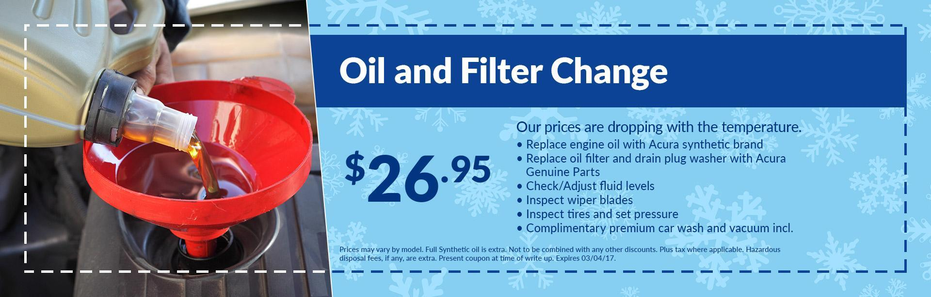 Acura coupon oil change