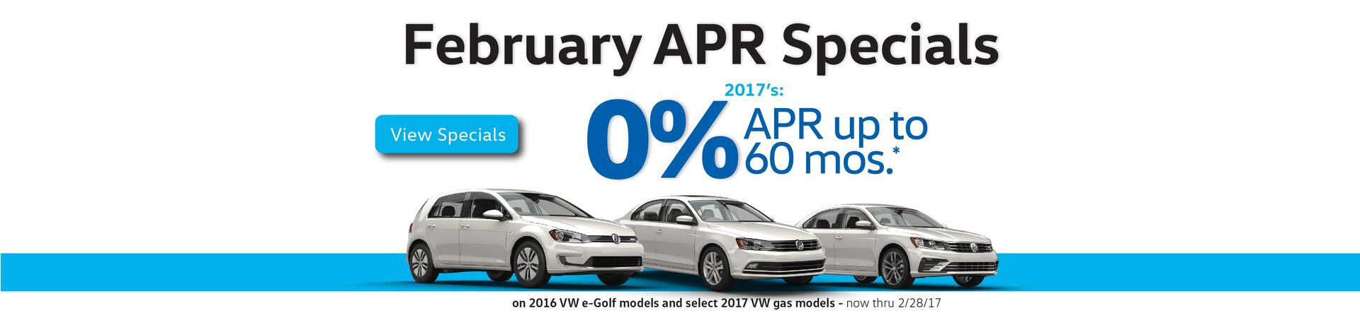 Capistrano VW February 0% APR for 60 months on select new 2017 VW models
