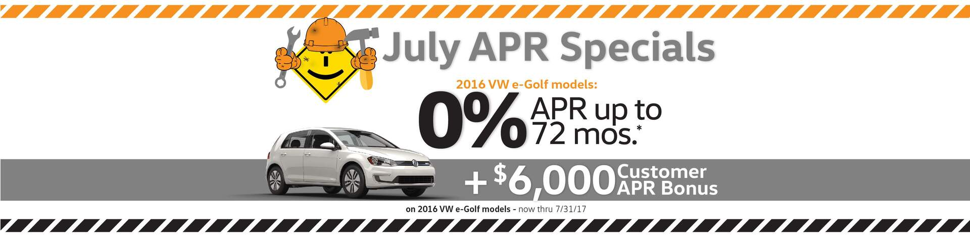 Capistrano VW July 0% APR for 72 months on select new 2017 VW models