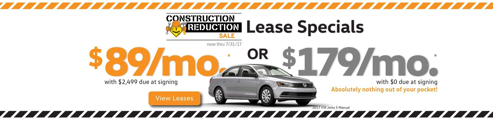 VW July $0 due at signing Lease Specials