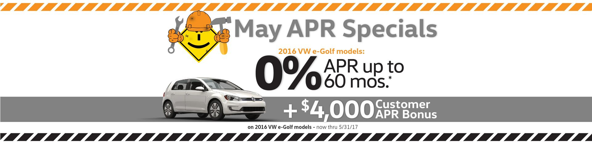 Capistrano VW May 0% APR for 60 months on select new 2017 VW models